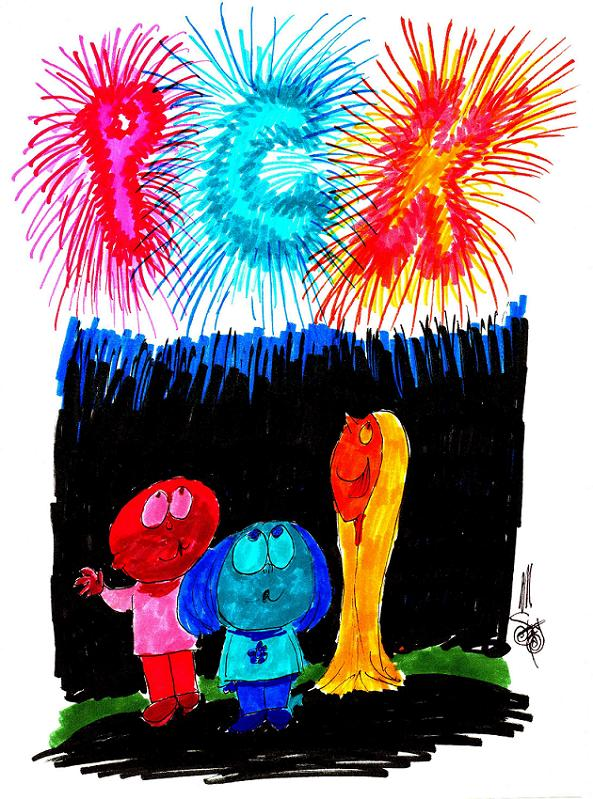 Sketch: 4th of July, 2013